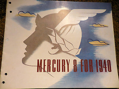"""1940 """"Mercury 8 For 1940"""" - outstanding condition, 20 pages brochure catalog"""