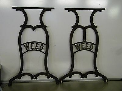 Antique Cast Iron Weed Treadle Sewing Machine Base Legs Stand Table Steampunk