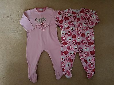 Baby Girl Next Apple Sleepsuits, 1.5-2 Years (18-24 Months) Good Clean Condition