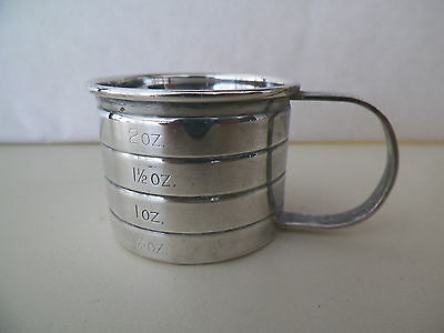 Vntg Cartier H100 Sterling Silver 2Oz Infant Cup W 1/2Oz Increment Markings