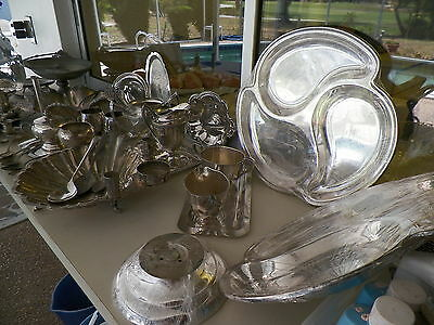 Lrg Lot Silverplated Ware Scrap/use/recovery