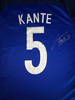 Signed N'Golo Kante France Shirt Proof * See Him Sign * Chelsea Champions
