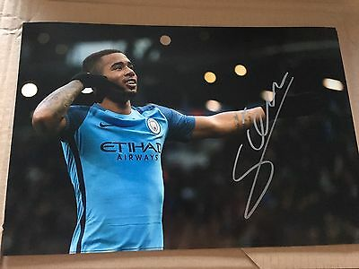 Signed Gabriel Jesus Photo Manchester City Proof Brazil * See Him Sign *