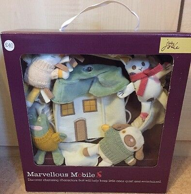 BABY JOULES - MARVELLOUS MUSICAL MOBILE -COT NURSERY - BOX SET - Rrp: £40 NEW