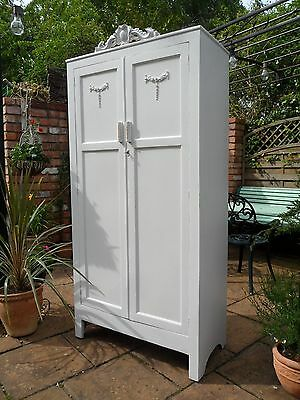Adorable Vintage Painted French Style Wardrobe with Lovely Interior Shabby Chic