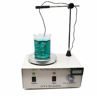 Hot Plate Magnetic Stirrer, 15-1500 RPM, Fixed Temperature 135C, 110V