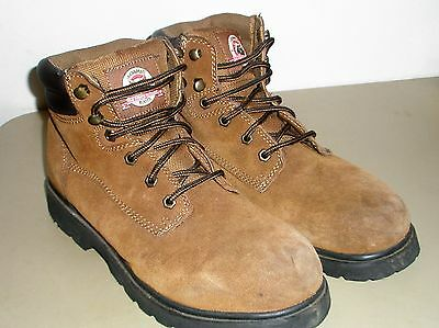 Brahma Brown Leather Work Boots  Size 10 1/2