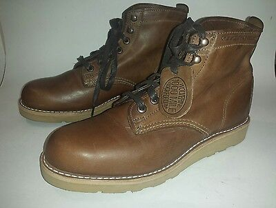 NEW Men's Wolverine 1000 Mile Prestwick Lace up Brown Leather Boots Size 7.5 USA