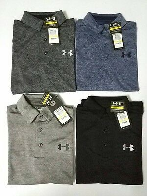 New With Tags Under Armour Heat Gear Men's Golf Polo Shirts Slim Fit