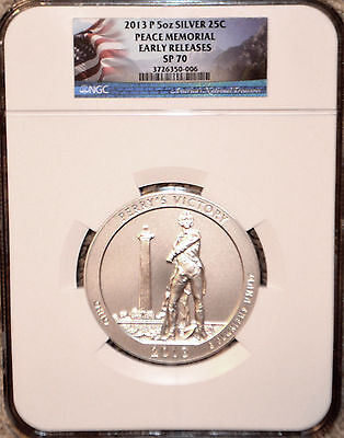 2013 P ATB 5 oz SILVER PEACE MEMORIAL EARLY RELEASES NGC SP 70