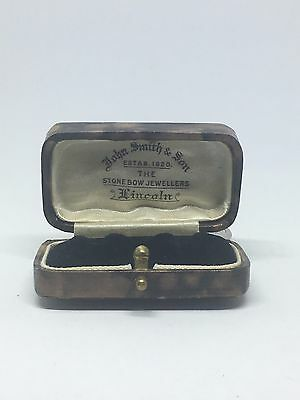 Antique Fitted Stud Jewellery Display Case Box Perfect For Diamond Stud Earrings
