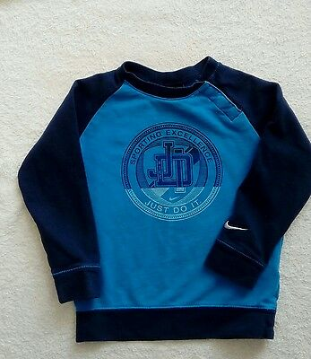 Lovely baby boys blue jumper 18-24 months FAB!!!!  Nike