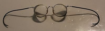 Pair of Vintage 1940's Motorcycle Bausch & Lomb Metal Safety Glasses Ful-Vue