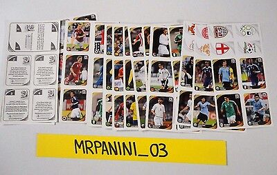 WC SOUTH AFRICA Panini 2010 - Set Completo MINI STICKER Figurine-Stickers FOGLI