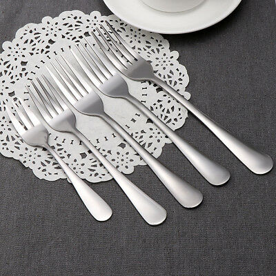 1/5pcs Dessert Dining Meal Tableware Stainless Steel Kitchen Tools Lunch Fork