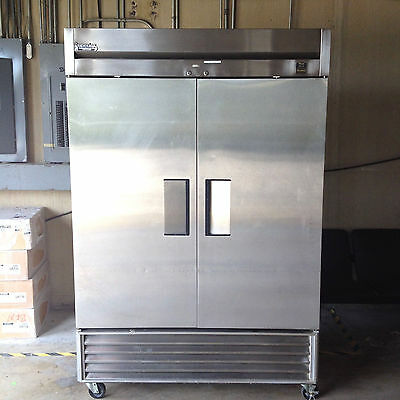 True TS-49 Stainless Double Door Commercial Reach-In Refrigerator Freezer