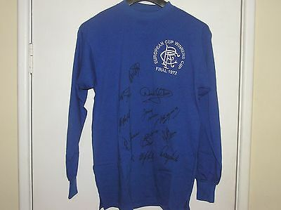 Glasgow Rangers 1972 European Cup Winners Cup Final Shirt Signed By 12 Players!