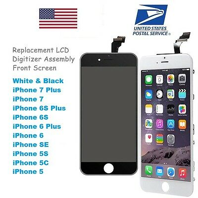 LOT White Black LCD + Touch Screen Digitizer for iPhone 5 5c 5s SE 6 6s 7 8 Plus