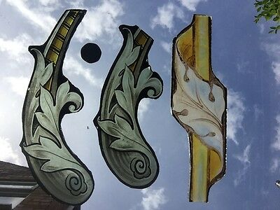 A Selection Of Stained Glass Church Fragments