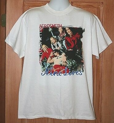 Vintage Aerosmith Concert T-Shirt L 1997 Nine Lives Large