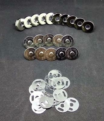 10 Sets Lot 8cm Silver Chrome Magnetic Button Shank Snap For Bags Purses Sewing
