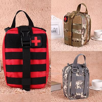 Tactical First Aid Kit Bag Molle Medical EMT Outdoor Travel Emergency Carry Bag