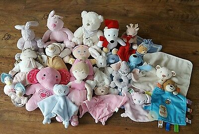 Soft Toy Bundle Mothercare, Mamas & Papas Rag Doll & Lullaby Toys Baby Comforter