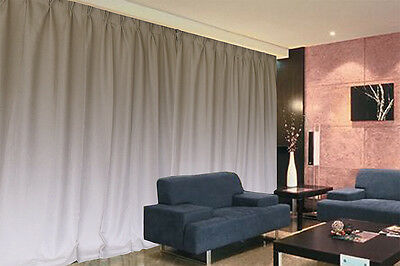 Large Linen Fabric Blockout Curtains 534x230cm PINCH PLEAT 2 panels New+30 Hooks