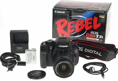 Canon EOS Rebel T3i/EOS 600D 18.0MP Digital SLR Camera - Black With 18-55mm Lens
