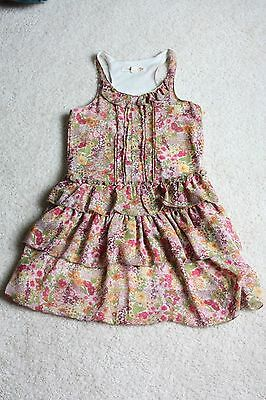 Rachael & Chloe kids pink floral sun dress girls size 8 / 6