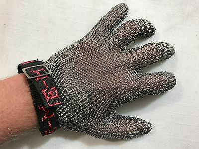 Frontline-M Chain Mail Stainless Steel Glove, Left Hand
