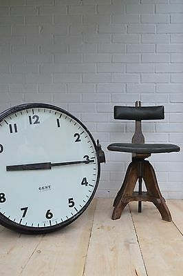 Large Gents Of Leicester Double Sided Station Clock Industrial Vintage