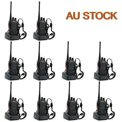 10X Baofeng BF-888S 400-470MHz 2-way Radio 16CH Walkie Talkie + Program Cable AU