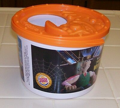 Bk Burger King Wallace & Gromit Curse of the Were-Rabbit Halloween Bucket