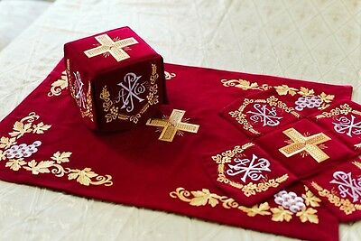 Chalice Covers Orthodox  Embroidered Red color