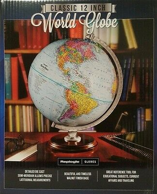 Replogle World Globe Classic 12 Inch / 30.5 cm Up-to-Date Accuracy Morden Earth1
