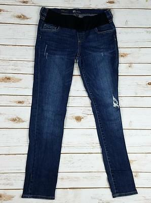 KUT From The Cloth Dark Wash Distressed Skinny Stretch MATERNITY Jeans  Size 4