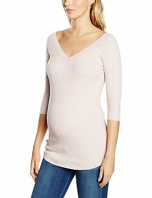 (TG. IT 42 (UK 10)) New Look Maternity Fine Gauge V Neck, Pullover Donna, (E4a)