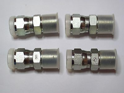 "4 - Hydraulic Steel Adapter Fittings, 1/2"" Female Swivel JIC x 1/2"" Male NPT"