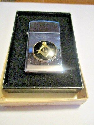 Vintage 1970s Slim Zippo Lighter  W/Box And Instructions No. 1610