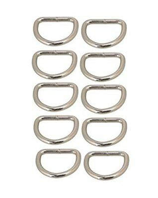 D-Rings for Bag or Purse Handles - Pack of 10 - 25mm Nickel