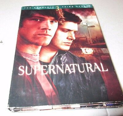 Supernatural: The Complete Third Season (DVD, 2008, 5-Disc Set) No Sleeve Tested