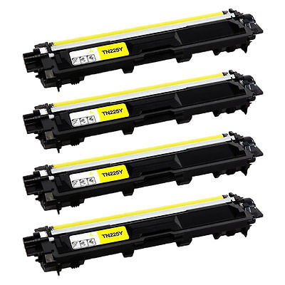 4PK TN225YL Yellow Toner Cartridge TN225 Fit For Brother  HL-3150CDN MFC-9130CW
