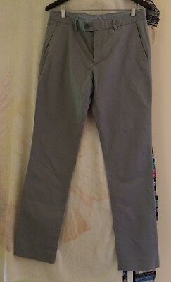 Country Road Grey 100% Cotton Size 32 Men's Casual Trouser Pants