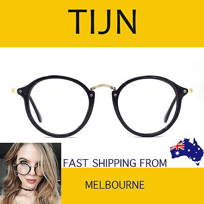 TIJN Vintage Round Eyeglasses Frame with Clear Lenses for Women - 1