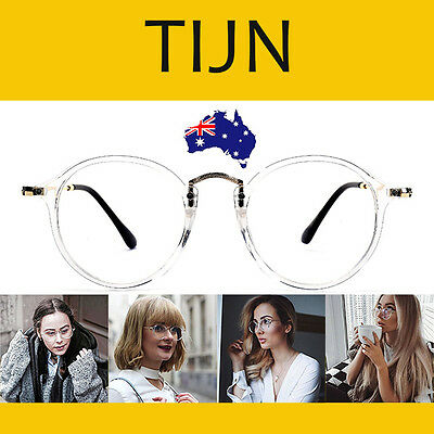 TIJN Vintage Round Eyeglasses Frame with Clear Lenses for Women - 6