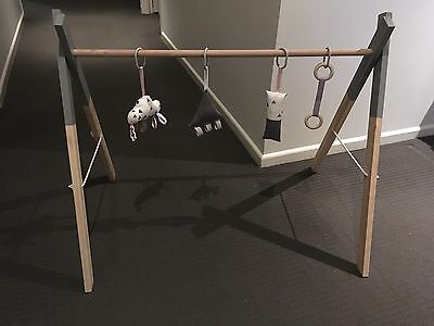 Hand Made Wooden Baby Play Gym (Toys Not Included)