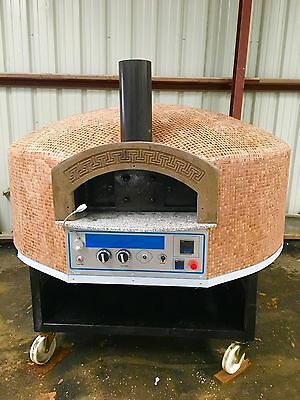 Pizza oven Gas and Wood Stone Oven Commercial Pizza Oven Rotational Base
