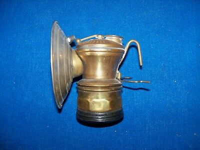 Antique Auto Lite Brass Coal Mine Mining Miners Carbide Lamp Light Never Used