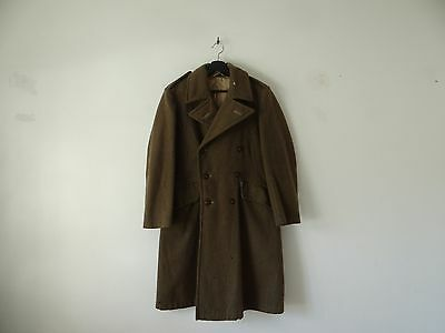 Antique 1910s WW1/WWI double breasted military overcoat greatcoat in heavy wool